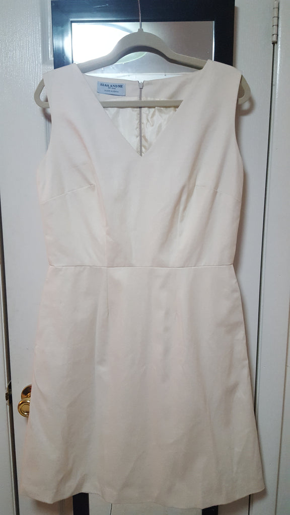 RUTH, V-Neck, Sleeveless, Off White Twill, No Pleats