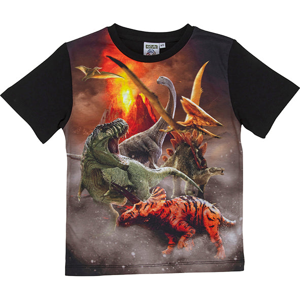 Load image into Gallery viewer, T-shirt dinosaur 6-7 år