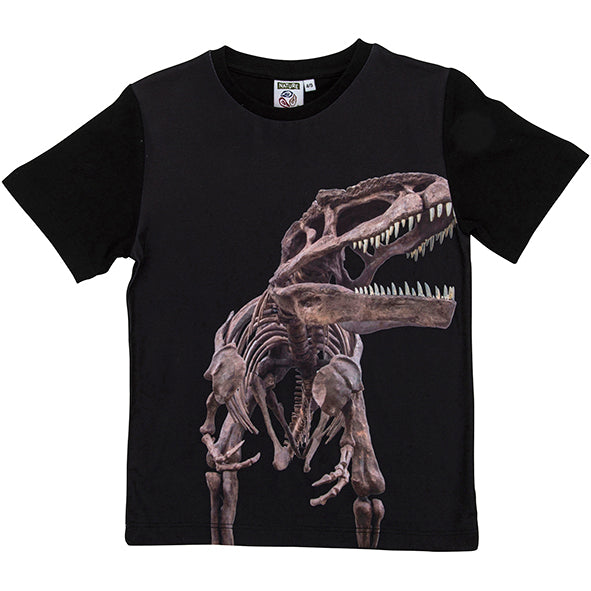 Load image into Gallery viewer, T-shirt T-Rex skelet 4-5 år