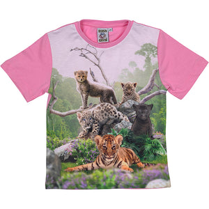 Load image into Gallery viewer, T-shirt vilde katte 2-3 �r