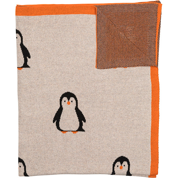 Load image into Gallery viewer, Throw Organic Cotton Penguin