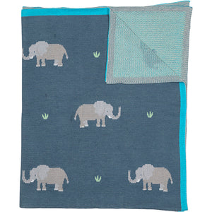 Load image into Gallery viewer, Throw Organic Cotton Elephant