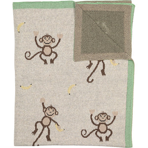 Throw Organic Cotton Monkey