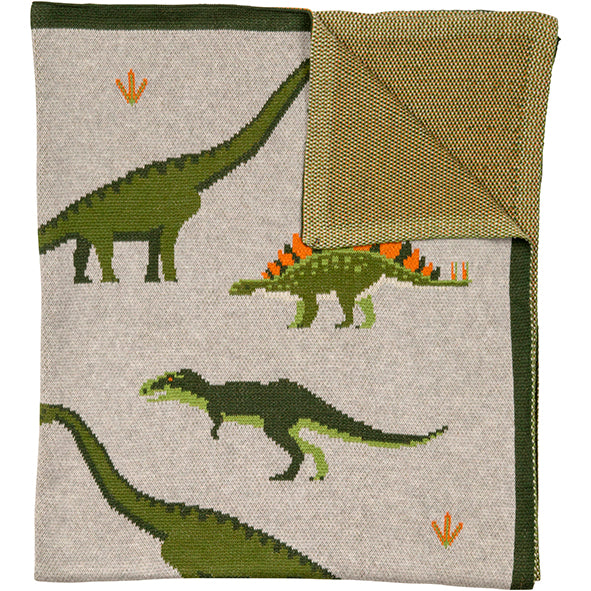 Load image into Gallery viewer, Throw Organic Cotton Dinosaur