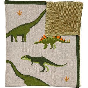 Throw Organic Cotton Dinosaur