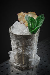 Mint julep cocktail with armagnac