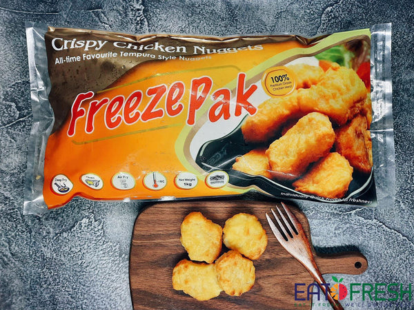 Frozen Crispy Chicken Nuggets (FreezePak) - 1 kg per pack - Eat Fresh SG