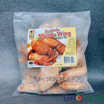 Frozen Buffalo Chicken Mid-Wing (Bibik) - 1 kg