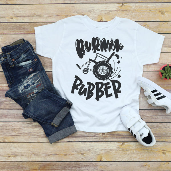 Burnin' Rubber - Toddler + Youth T-Shirt