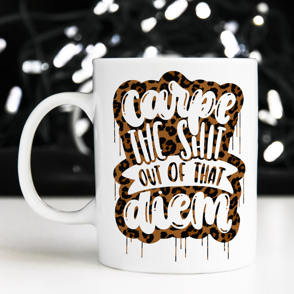Carpe Diem Mug (Limited Edition Leopard!)