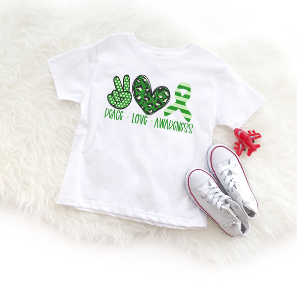 Peace Love Cerebral Palsy - Toddler + Youth T-Shirt
