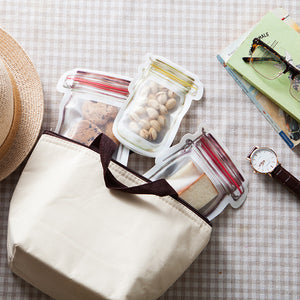 Reusable Mason Bottle Ziplock Bag