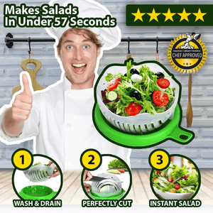 Snap Salad - Kitchen Salad Cutting Bowl