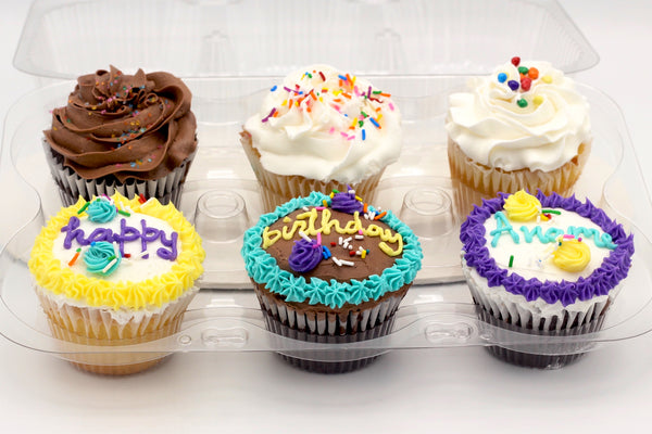Custom Message Assorted Cupcake Packs