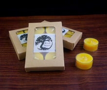 Load image into Gallery viewer, Beeswax Tea light Candles - 6 Pack gift box made with Canadian Beeswax - Woods Imagery