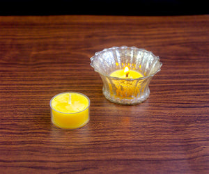 Beeswax Tea light Candles - Bulk 12 or 64 pack in gift box - Woods Imagery