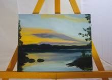 Load image into Gallery viewer, Tukanee Lake Sunset Oil Painting - Woods Imagery