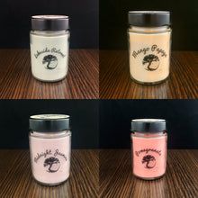 Load image into Gallery viewer, Mix and Match 4 Soy Wax Candles in Glass Containers - 9 oz - 40+ Hour Burn Time each