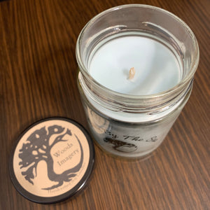 Large Soy Wax Candle in Glass Container - 9 oz size with 40+ Hour Burn Time - Down by the Sea Scent Candle