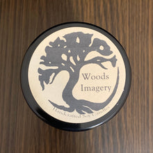 Load image into Gallery viewer, Clean Cotton Scented Soy Wax Candle in Glass Container - 9 oz size with 40+ Hour Burn Time - Woods Imagery
