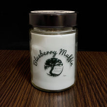 Load image into Gallery viewer, Blueberry Muffin Scent Soy Wax Candle in Glass Container with 40+ Hour Burn Time - 9 oz Candle
