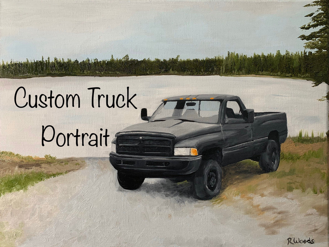 Custom Oil Painting of your photo of Vehicle, Bike, or Heavy Equipment - Woods Imagery