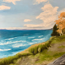 Load image into Gallery viewer, Landscape oil painting on Canvas - Lake Superior at Pebble Beach, Marathon - Woods Imagery