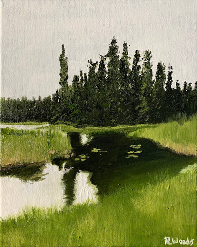 Landscape oil painting on Canvas - White Lake Provincial Park, Ontario - Woods Imagery