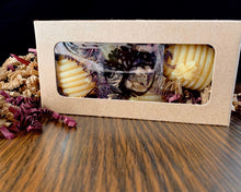 Load image into Gallery viewer, Beeswax Votive Candle - Canadian 100% Pure Beeswax Mini Hive Gift Box of 4