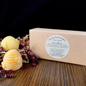Beeswax Votive Candle - Canadian 100% Pure Beeswax Mini Hive Gift Box of 4