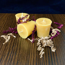 Load image into Gallery viewer, Beeswax Votive Candles - Gift Box Pack of 3 - Canadian 100% Pure Beeswax - Woods Imagery