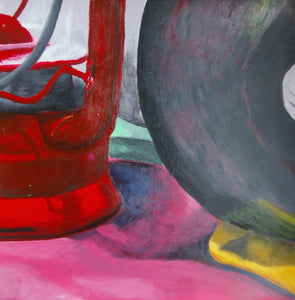 Lamp and Metal Still Life Acrylic Painting - Woods Imagery