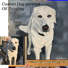 Load image into Gallery viewer, Pet Portrait Custom Commission Oil Painting on Canvas