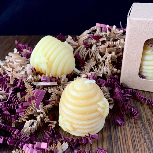 Beeswax Mini Hive Votive Candle - Gift Box of 4 Candles - Woods Imagery