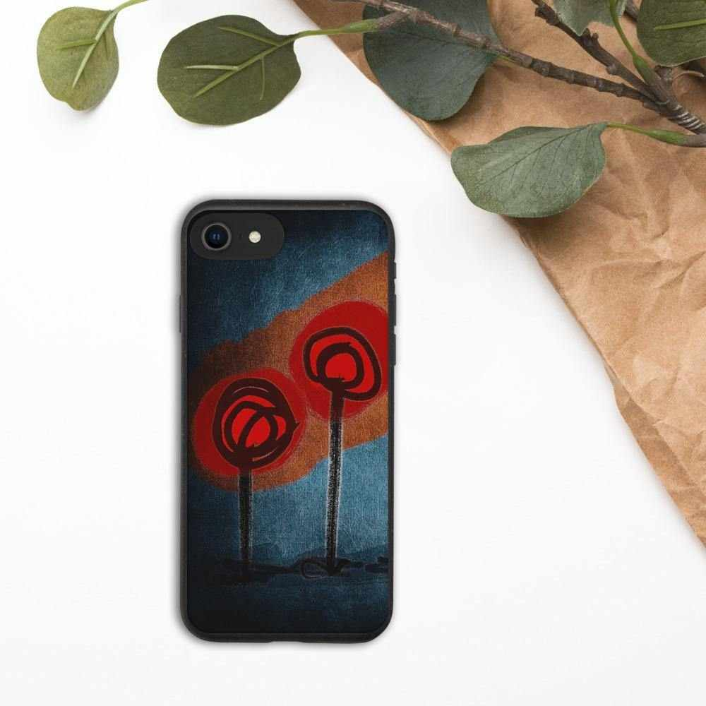 Biodegradable phone case Poppies by NotStephan - La Little Popart Gallery