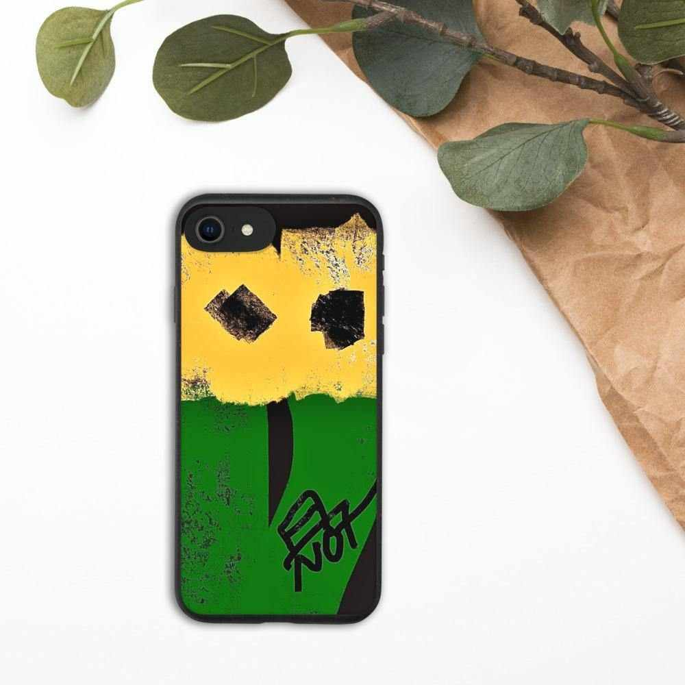 Biodegradable phone case Square heart flowers by NotStephan - La Little Popart Gallery
