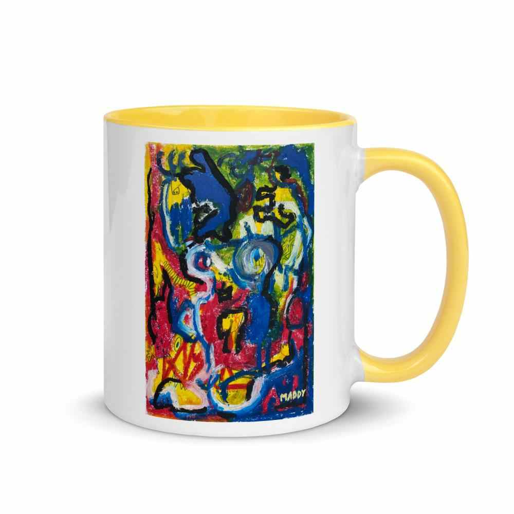 Le petit monstre jaune Mug - LIMITED EDITION - Maddy - La Little Popart Gallery