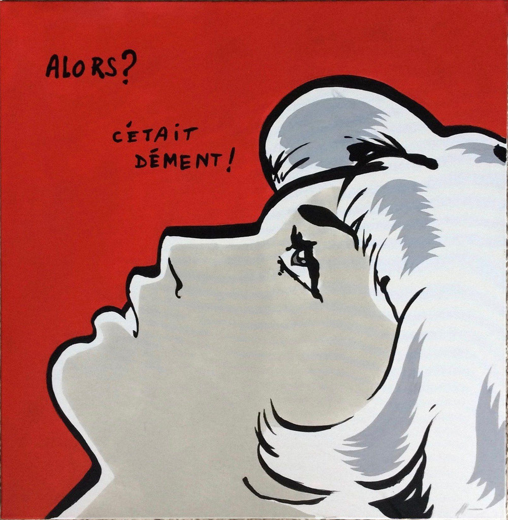 Leslie - ORIGINAL Acrylic on canvas 60 x 60 cm - Jean Sebastien Plaut - La Little Popart Gallery