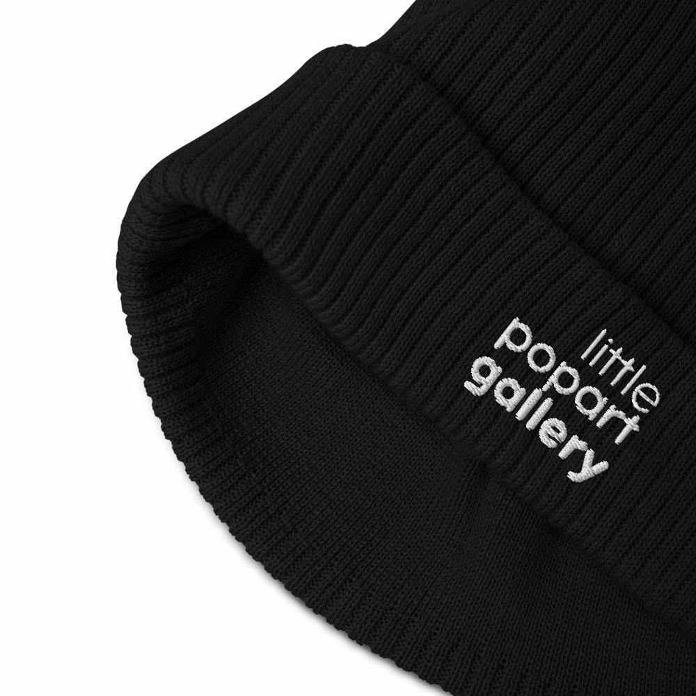 Organic ribbed beanie LLPG - La Little Popart Gallery
