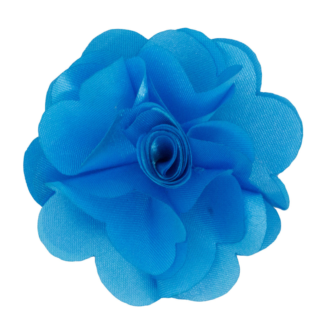 Turquoise Men's Solid Lapel Pin Flower