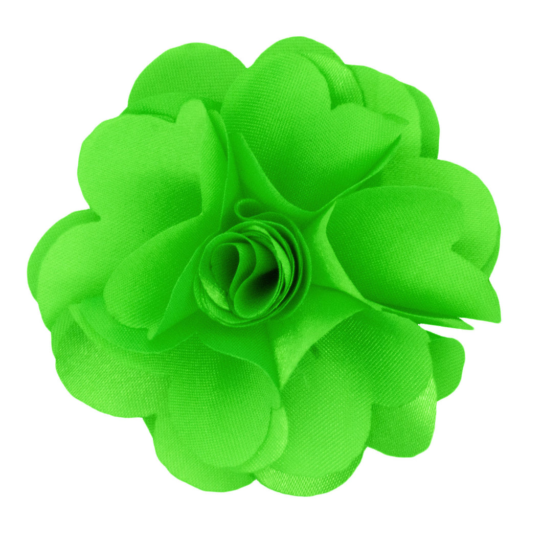 Lime Men's Solid Lapel Pin Flower