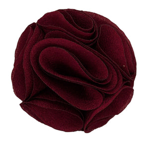 Burgundy Men's Solid Lapel Pin Rose
