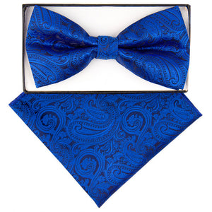 Royal Paisley Print Bow Tie