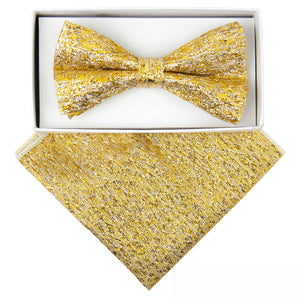 Gold/Silver Metallic Bow Tie and Hanky set