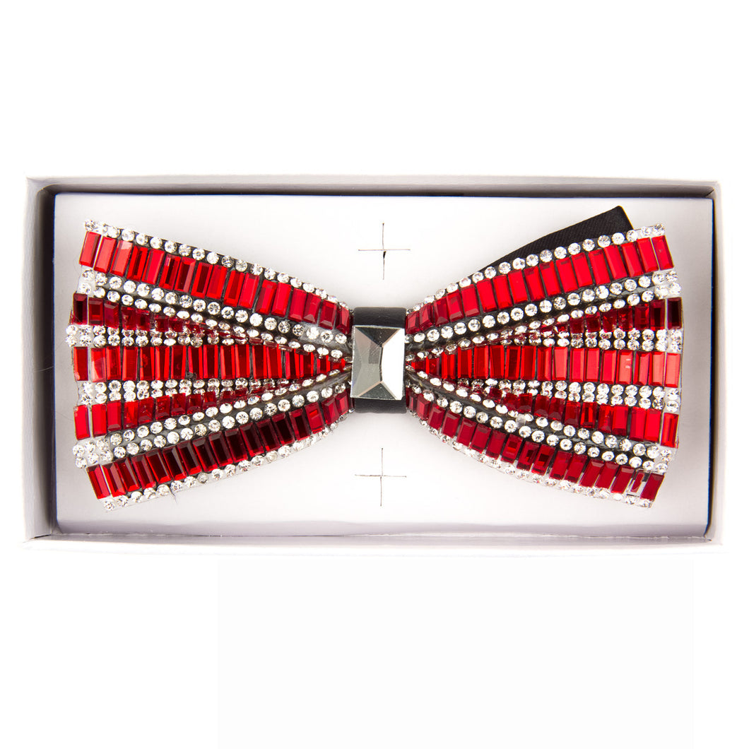 Red Jeweled bow tie