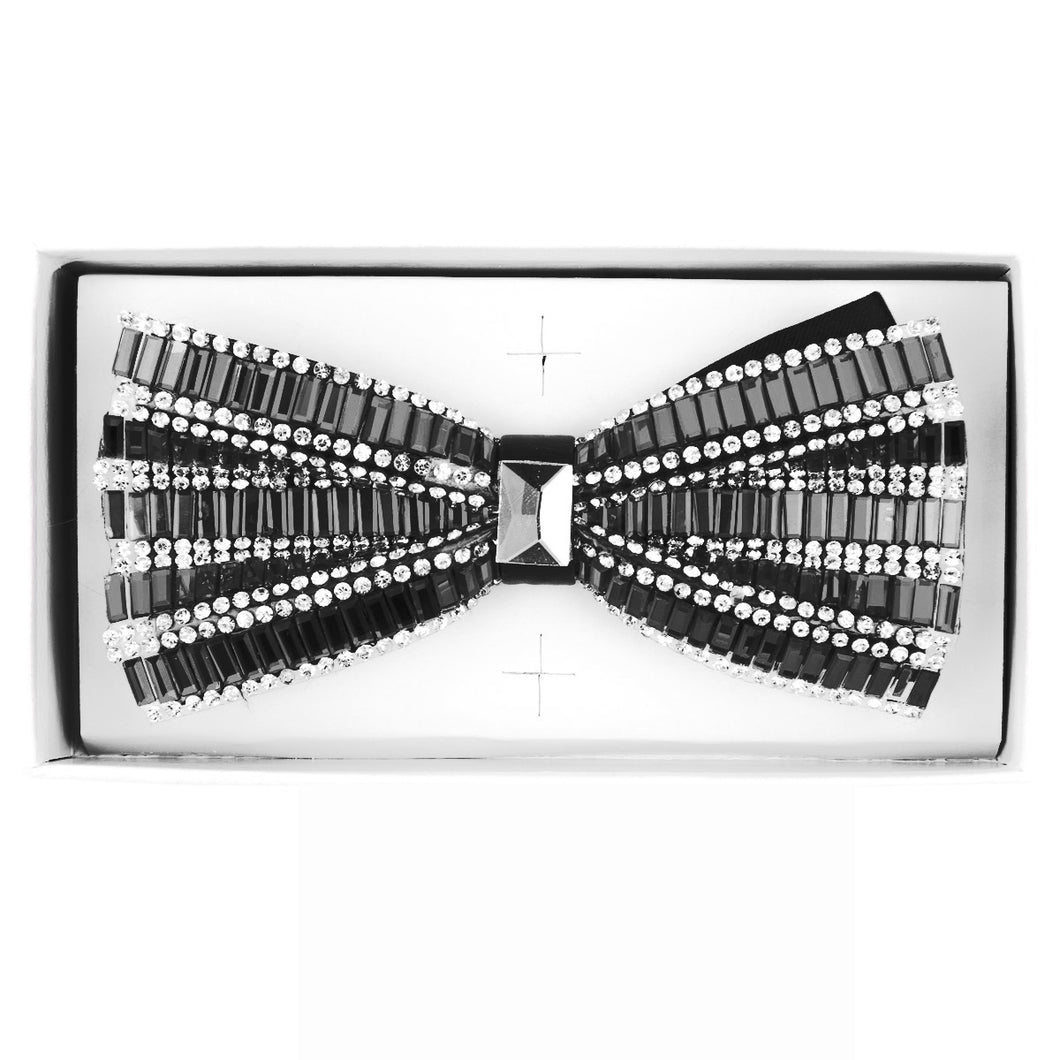 Charcoal Jeweled bow tie