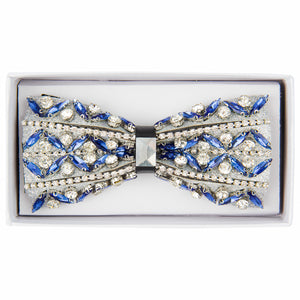 Sky/Clear Variety Jeweled bow tie