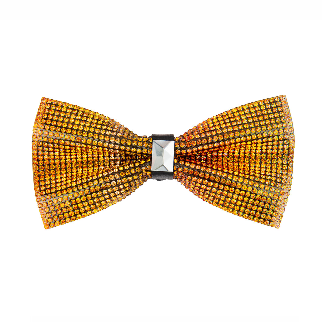 Sunrise Colors Rhinestone Bow tie