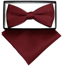 Load image into Gallery viewer, Burgundy Bow Tie