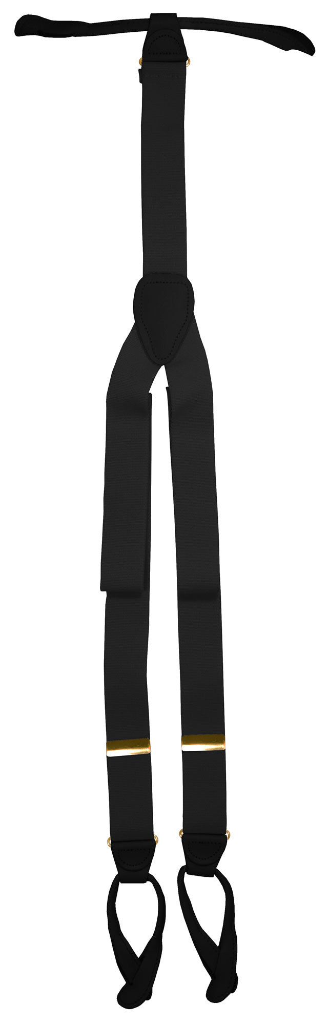 Charcoal Button Suspenders